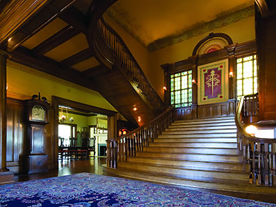 The spectacular stair of Thistle Hill.