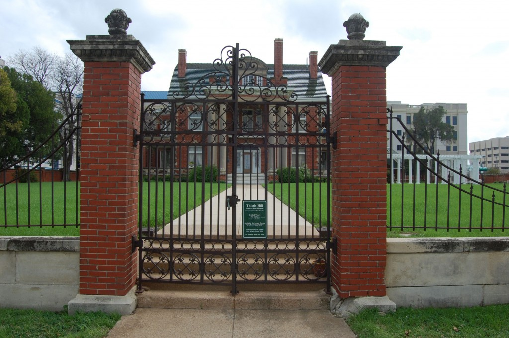 Thistle Hill gates.