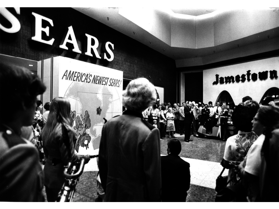 1973, The New Sears store at Jamestown Mall