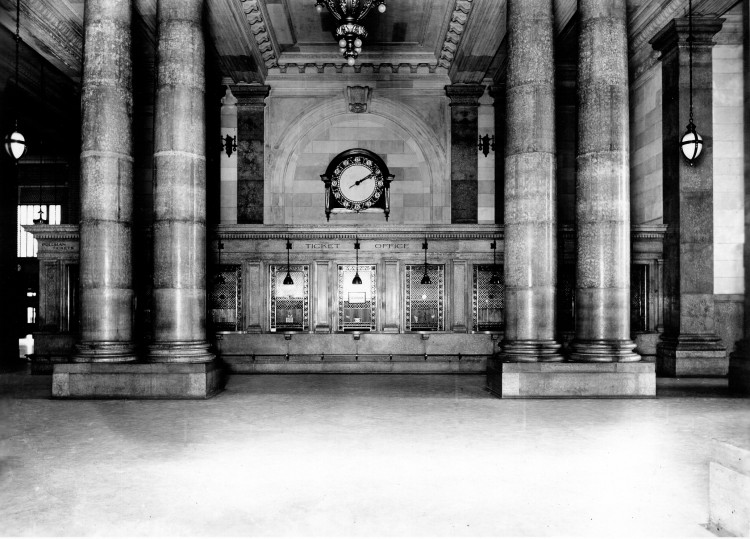 Ticket counter (image from the Detroit Public Library)