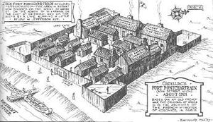 A detailed view of Fort Pontchartrain