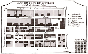 Map of the fort in 1763