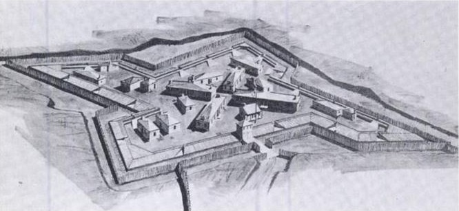 A diagram of Fort Lernoult