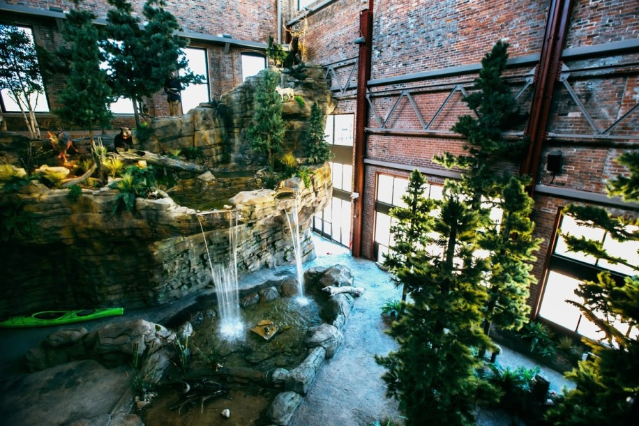 Waterfall exhibit (image from OAC).