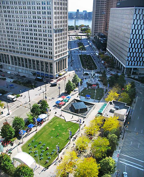 Overview of Campus Martius Park (image from Glass Door)