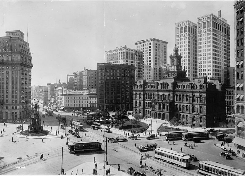 Campus Martius circa 1910-1920 (image from Wikimedia Commons)