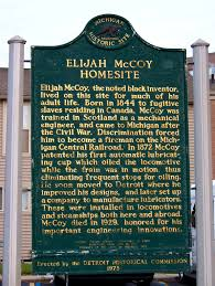 Historical marker of McCoy's home, at 5720 Lincoln Ave in Detroit