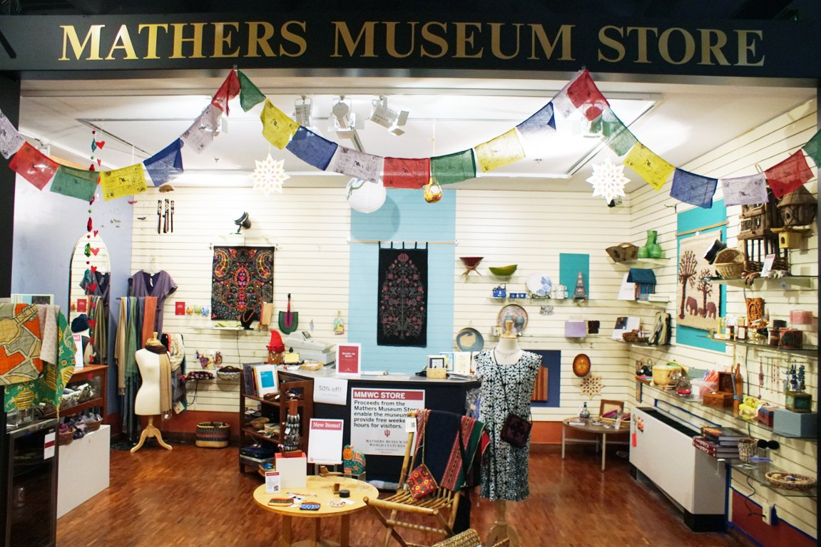 The Mathers Museum Store offers its own collection of culturally diverse items that can be taken home once the tour is through.