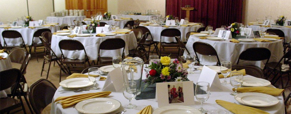 Facility rentals are also available for weddings and other big events.