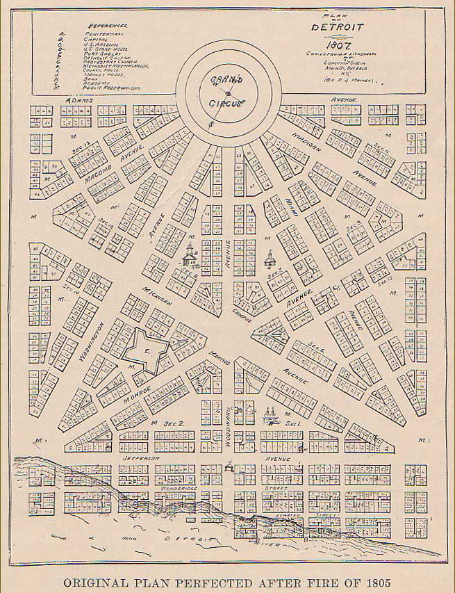 A copy of the Woodward Plan, dated 1807