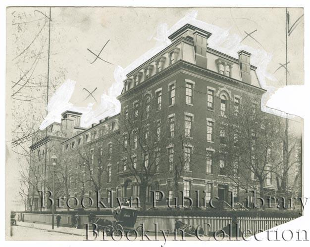 The original St. Mary's hospital, constructed in 1879.