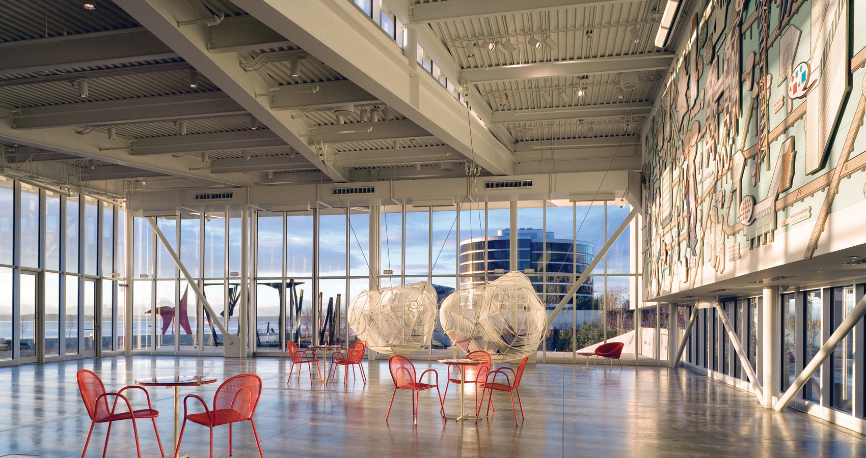 Inside the Peccar Pavilion (image from Weiss/Manfredi Architectural Firm)