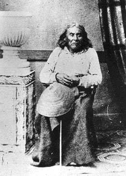 1864 photograph of Chief Seattle (image from History Link Encyclopedia)