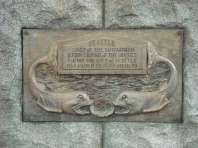 Detail of left side of monument (image from Historical Marker Database)