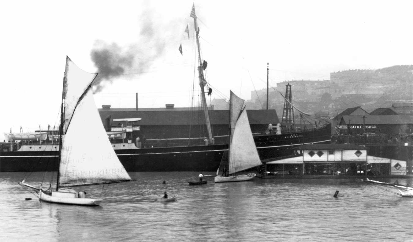 Historic photo of the Miike Maru steamship (image from the blog of Paul Dorpat)