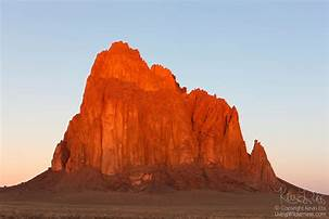 Sunset View of Shiprock