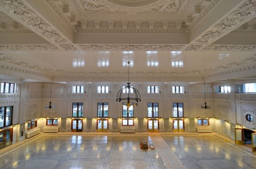 The restored main waiting room (image from Seattle Transit Blog)