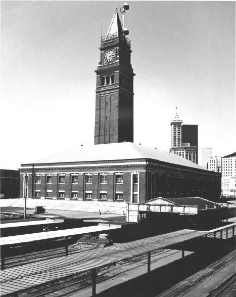 The station in 1972 (image from the National Register of Historic Places)