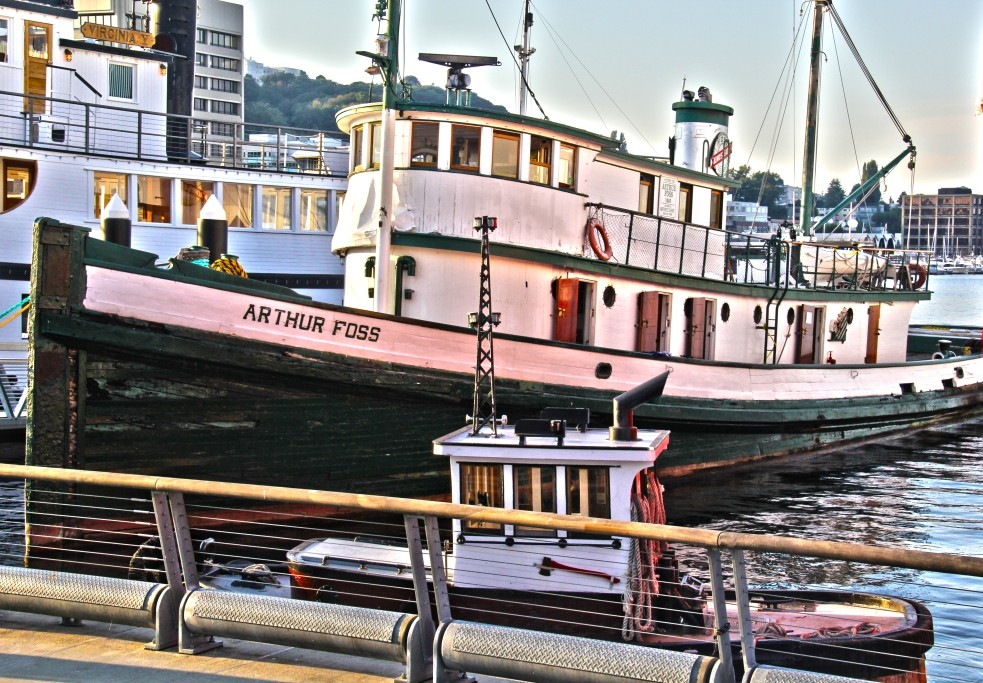 Northwest Seaport's restored historic tugboat, Arthur Foss (image from Northwest Seaport)