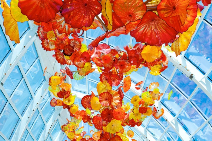 The Glasshouse during the day (image from Chihuly Garden and Glass)