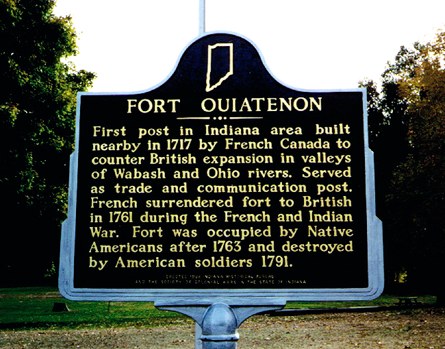 This historical marker provides information about the fort's history.