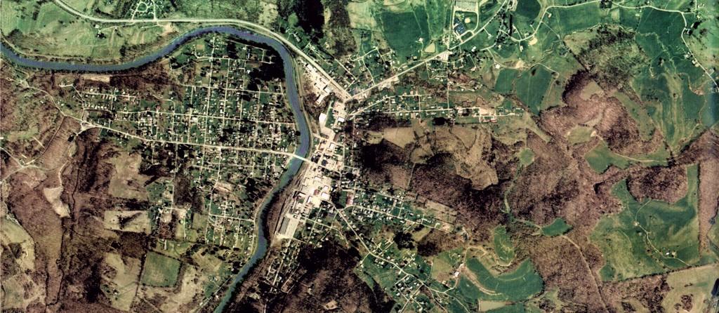 Belington, West Virginia aerial shot.
