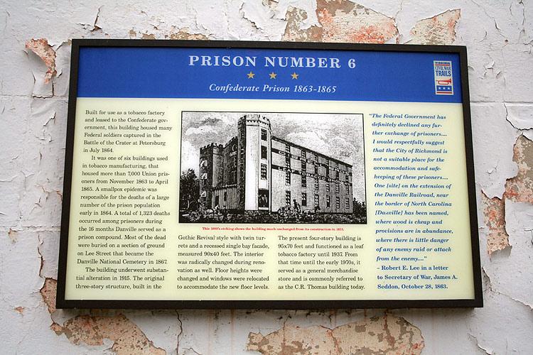 Confederate Prison No. 6 interpretive sign