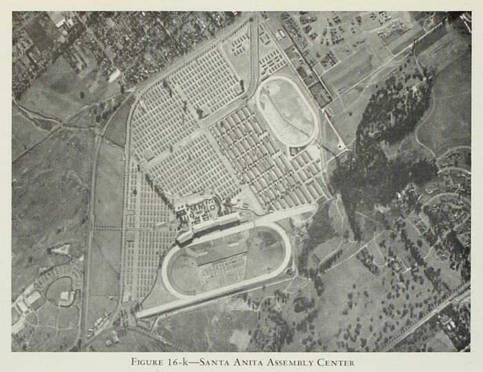 Arial View of Race Track after Converted into Camps