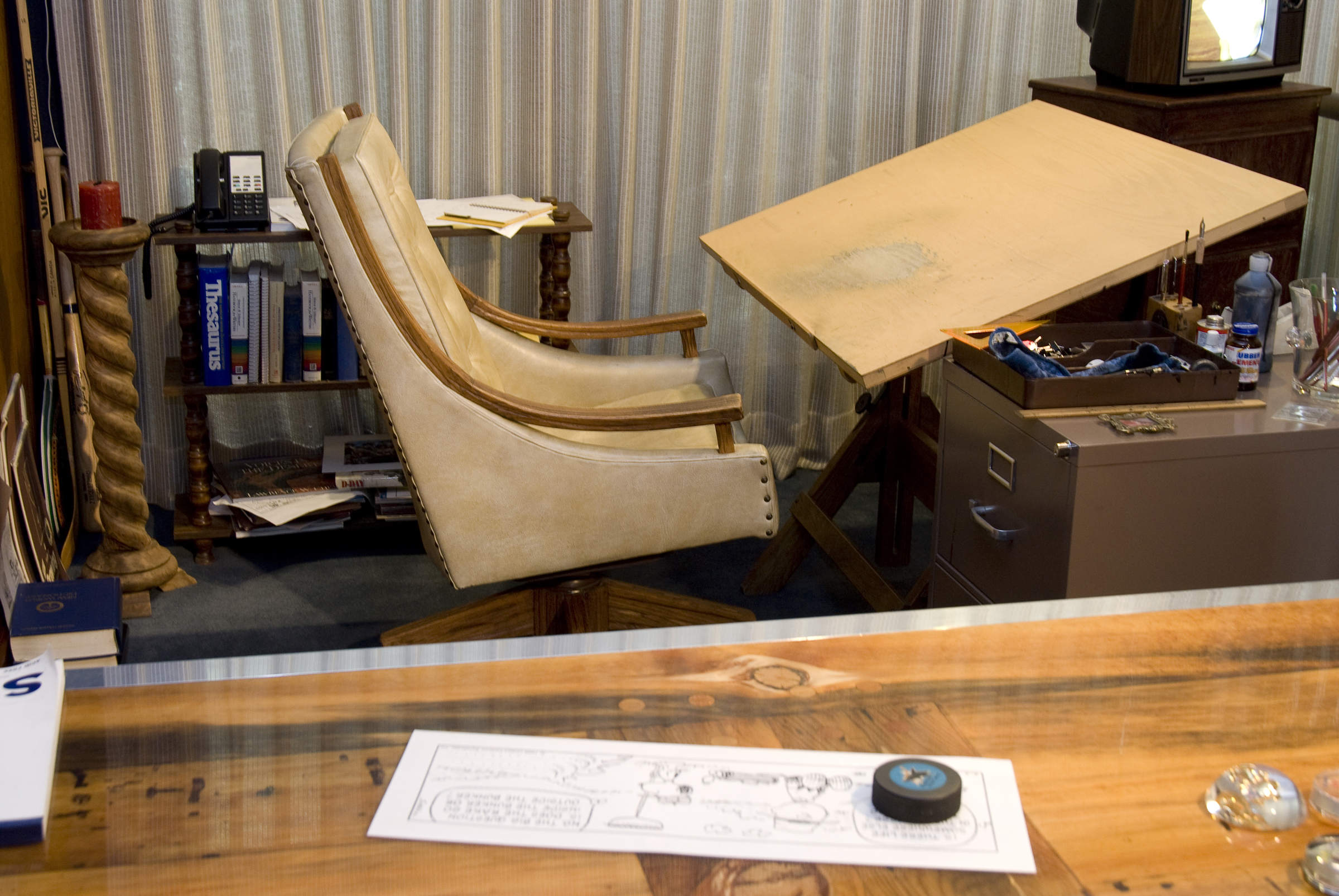 Photo by DJ Ashton, courtesy of the Charles M. Schulz Museum and Research Center Recreation of Charles M. Schulz Studio