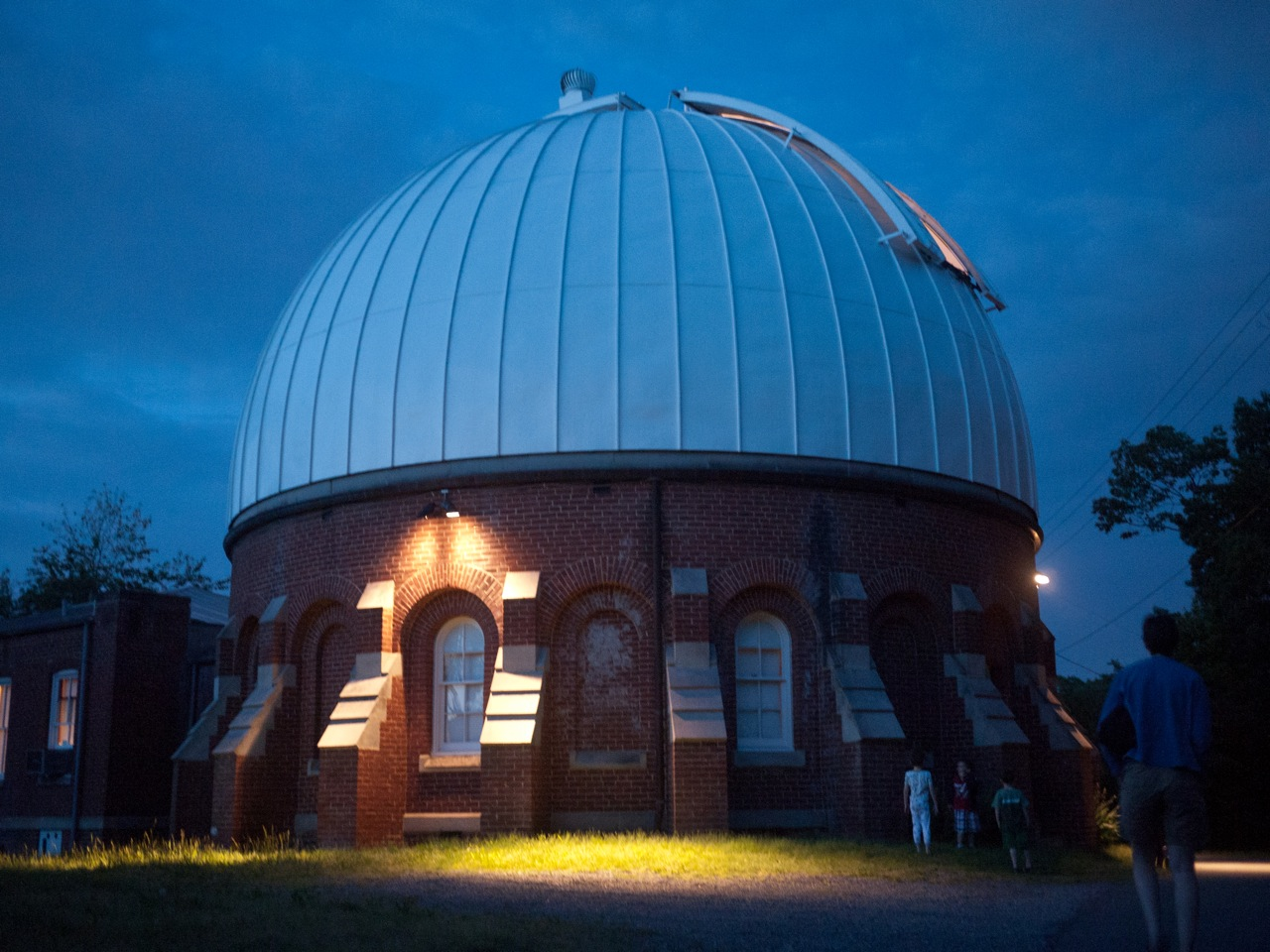Leander McCormick Observatory at night