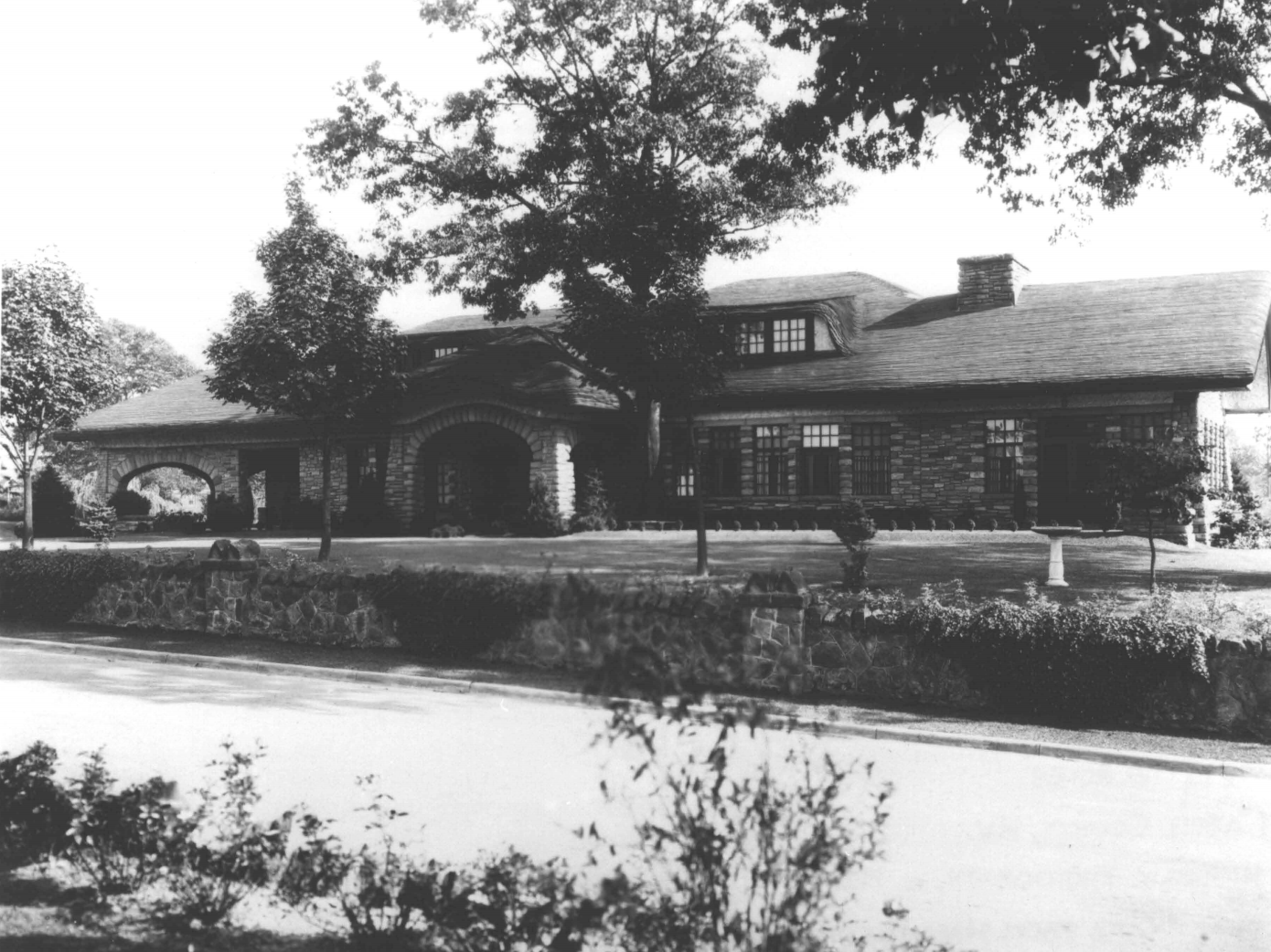 The Ricketts House, pictured in 1925 when it was completed