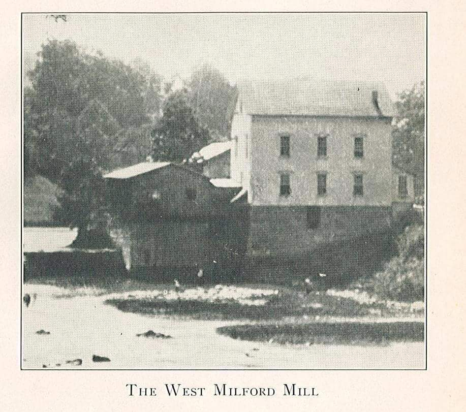 The West Milford Grist mill and dam.