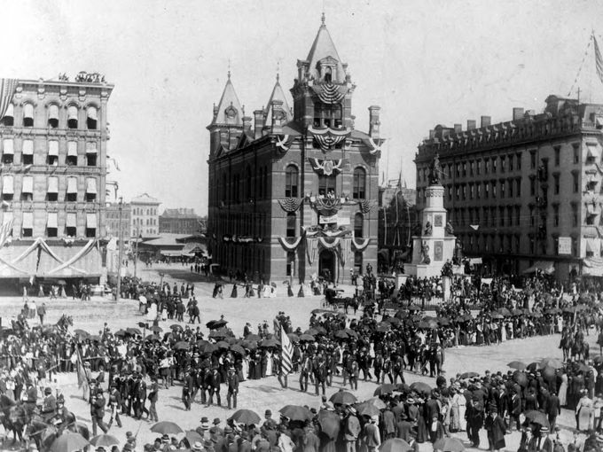 The GAR National Encampment March of 1891 was held in Detroit