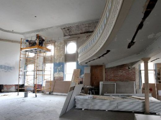 The auditorium during renovation