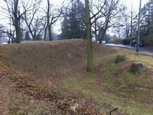 These earthworks are all that remain of the defenses built as Confederate troops moved north in 1863.