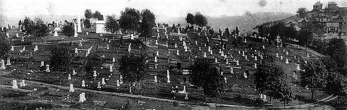 """""""Vintage photograph of Woodlawn"""" Courtesy of the Historic Woodlawn Cemetery."""