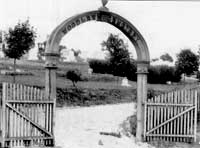 """""""The Original Woodlawn Gate"""" Courtesy of the Historic Woodlawn Cemetery."""