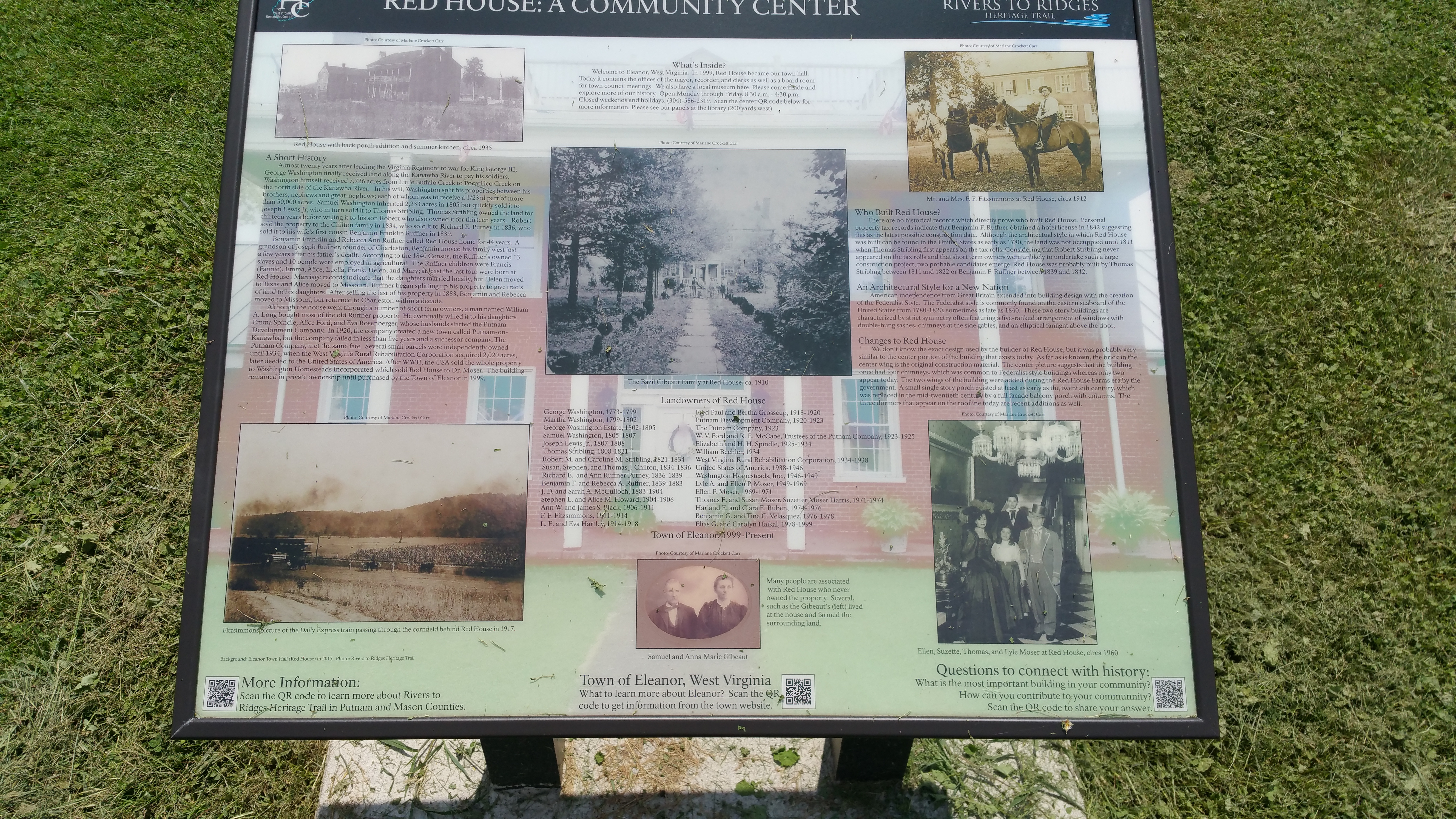 an informational sign on location
