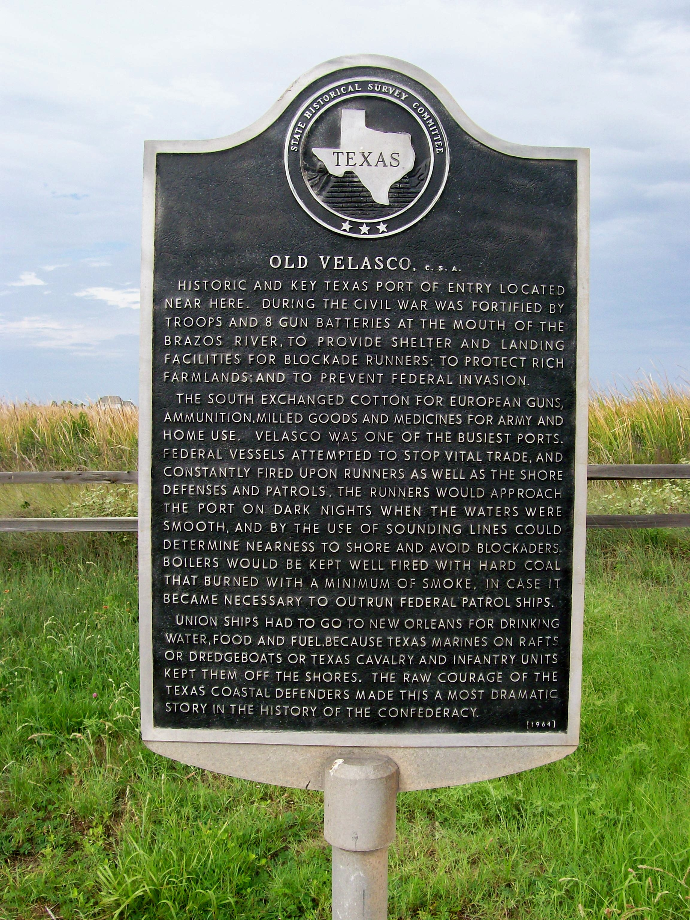 Old Velasco, CSA Marker