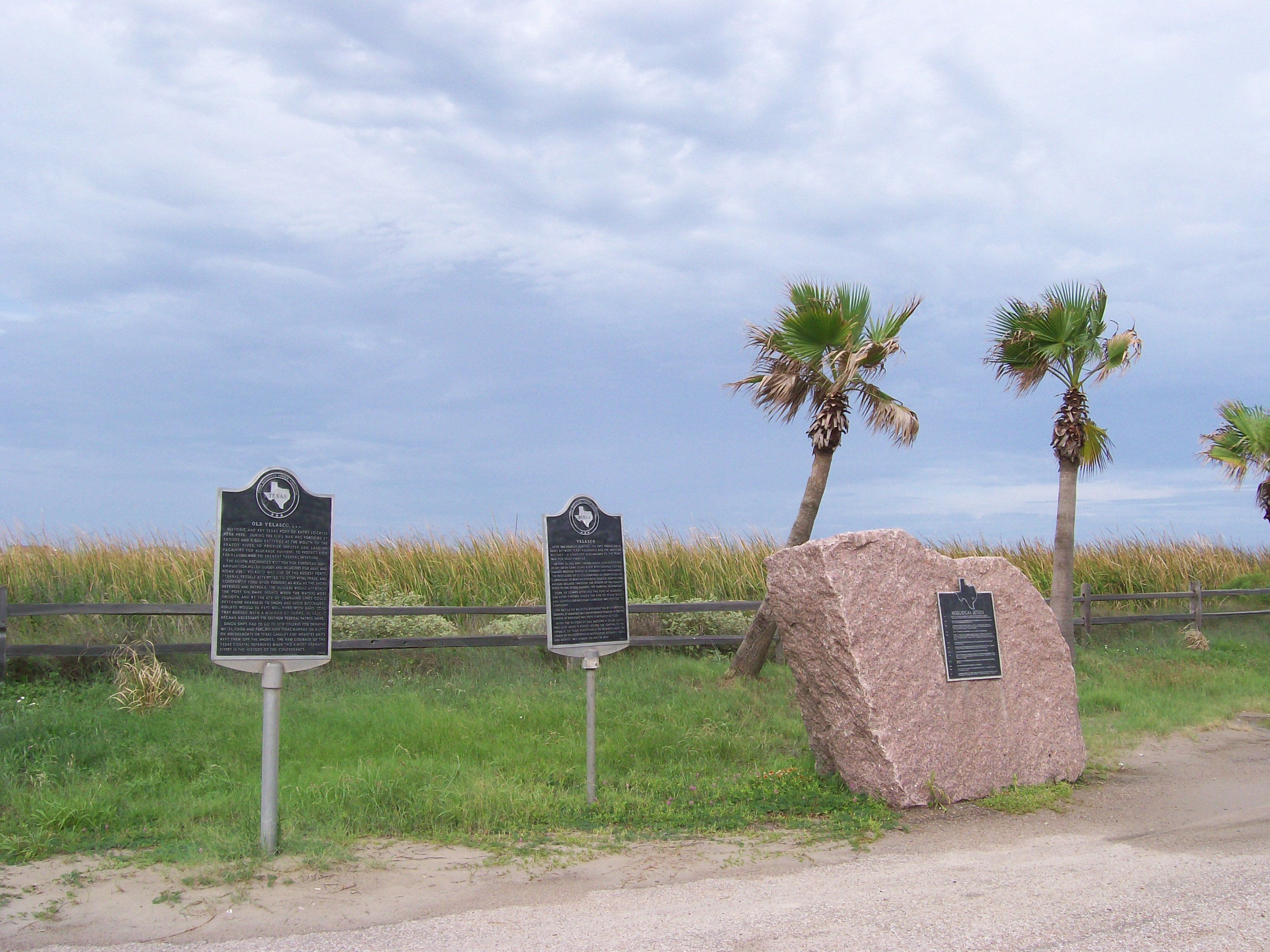 Two Markers and One Monument at Surfside Beach