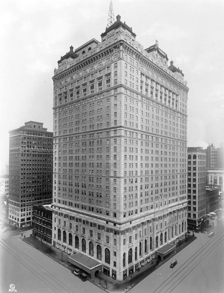 The Book-Cadillac Hotel was completed in 1924.