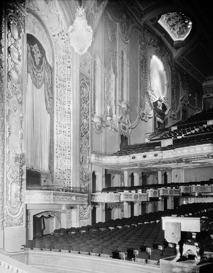 View of the auditorium from the stage