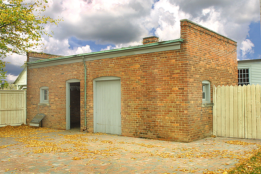 Ford's workshop was recreated from bricks of Ford's residence on Bagley Ave and assembled at Greenfield Village, where it remains today