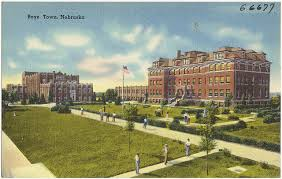 Historic postcard of Boys Town circa 1930.