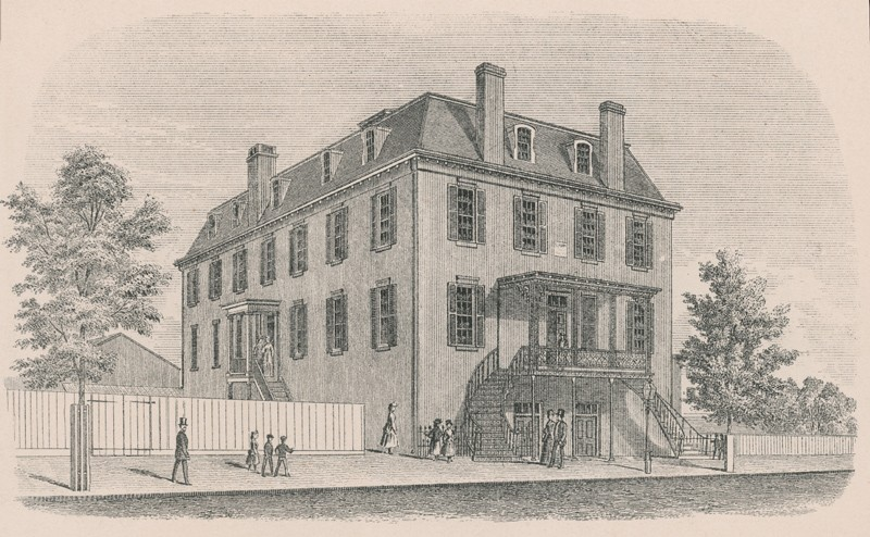 1870 sketch of how the Thaddeus Stevens School first appeared