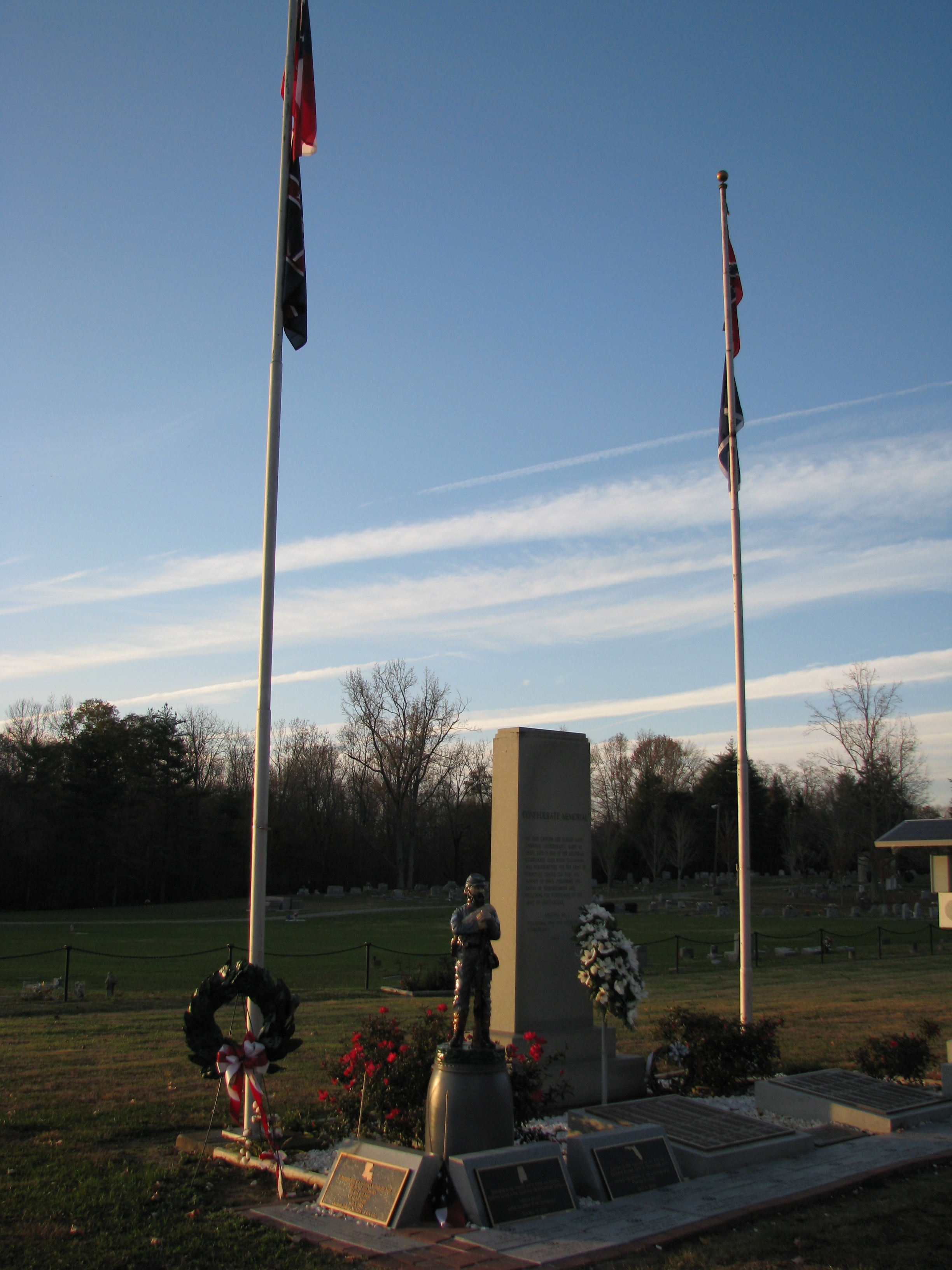 View of the Confederate Memorial within the cemetery grounds. (Photo by Tim Gillard)