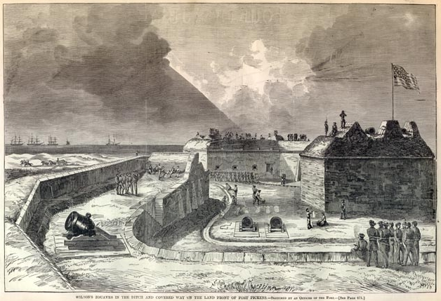Sketch of the fort a month after the battle