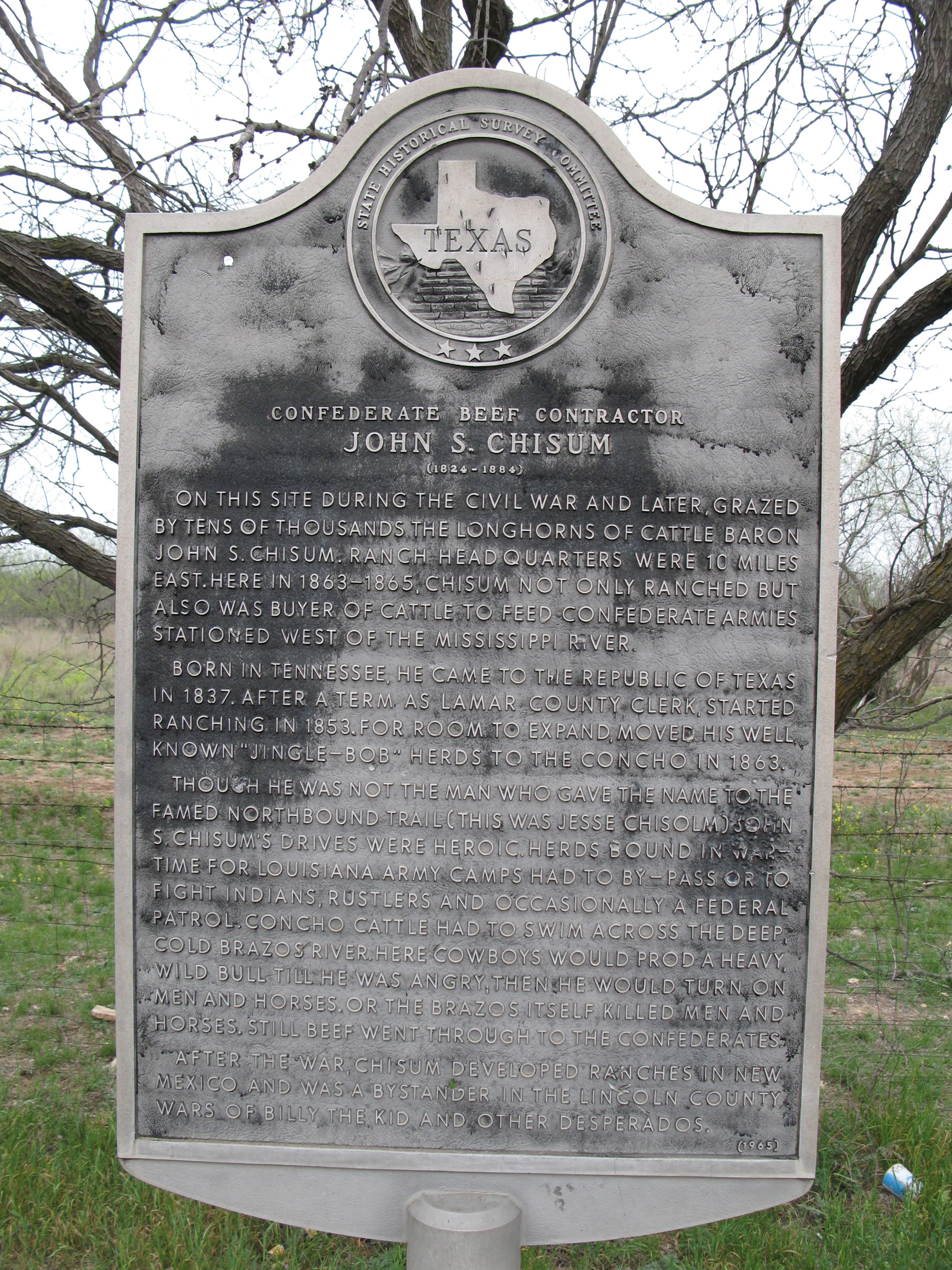 Picture of John S. Chisum Marker