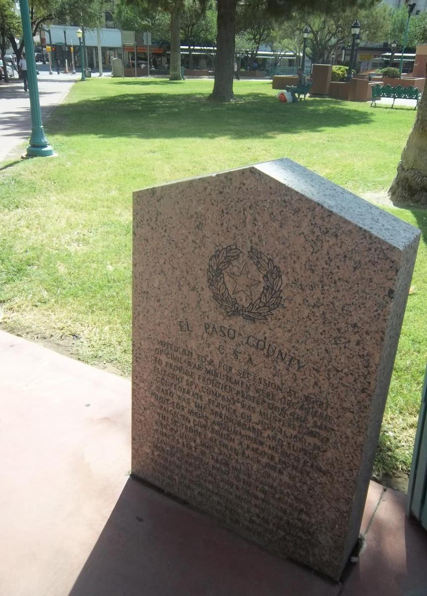 Picture of El Paso Memorial Marker (Front)