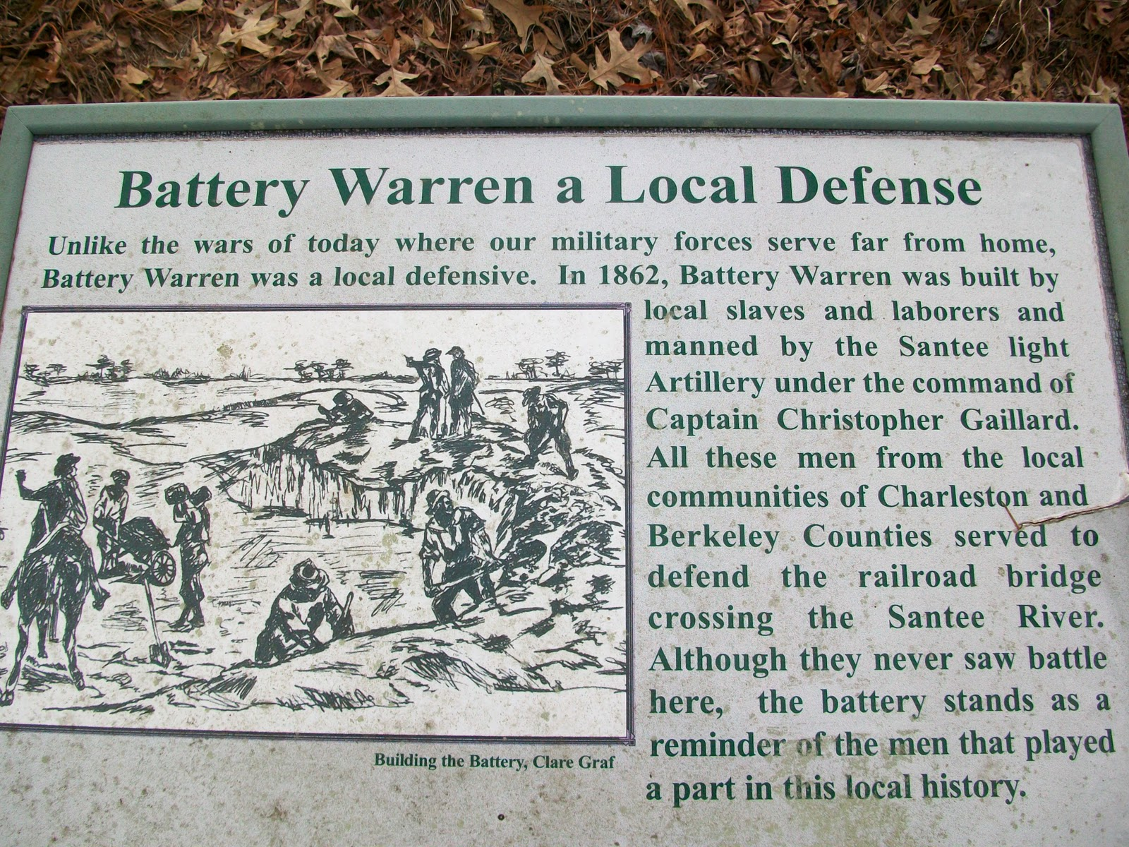 Interpretive Sign at Battery Warren